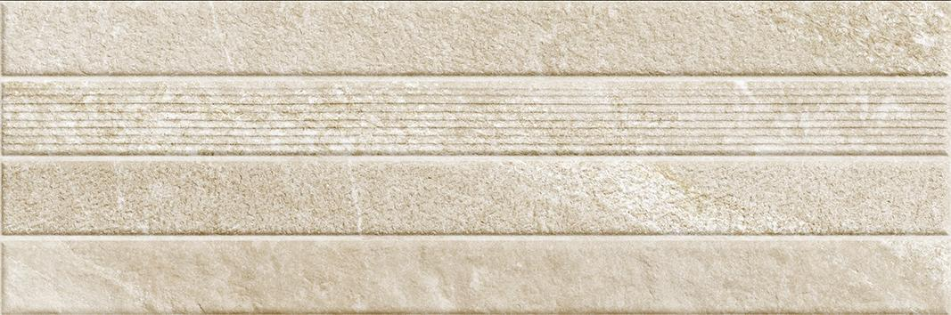 GEO BEIGE MATT DECOR RECT. (30x90)