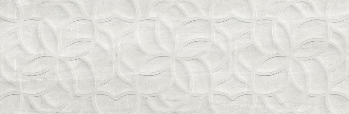 CALEDONIA WHITE MATT DECOR RECT. (40x120)