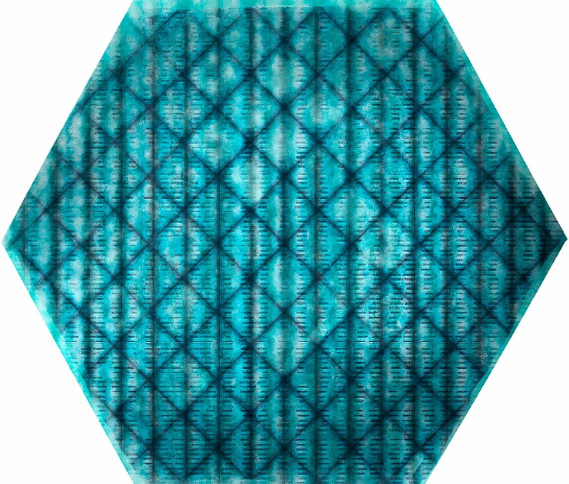 TRIBU BLUE SHINY (23x27)