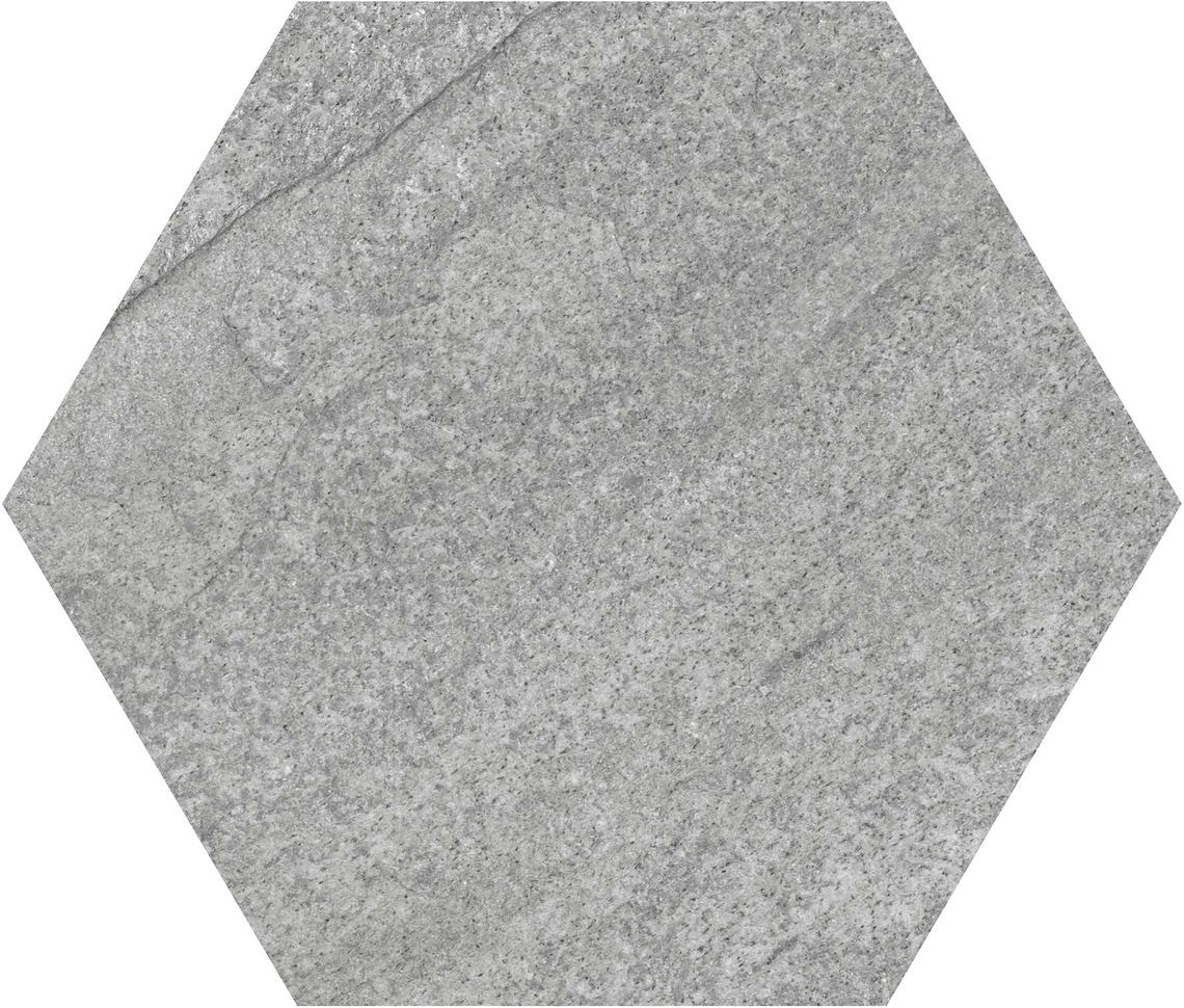 HEXA QUARTZITE GREY MATT (23x27)