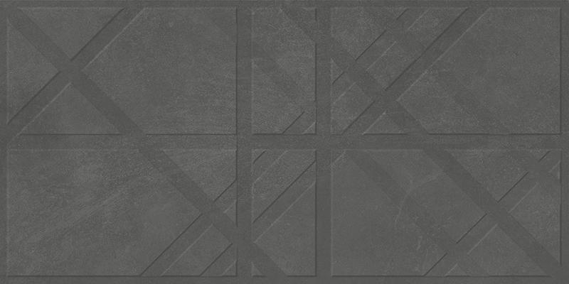 BRUGGE ANTRACITE DECOR RECT. (45x90)