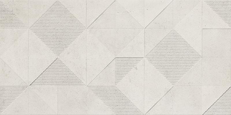 ORIGAMI WHITE DECOR RECT. (45x90)