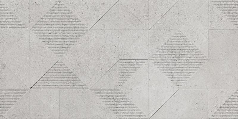 ORIGAMI GREY DECOR RECT. (45x90)