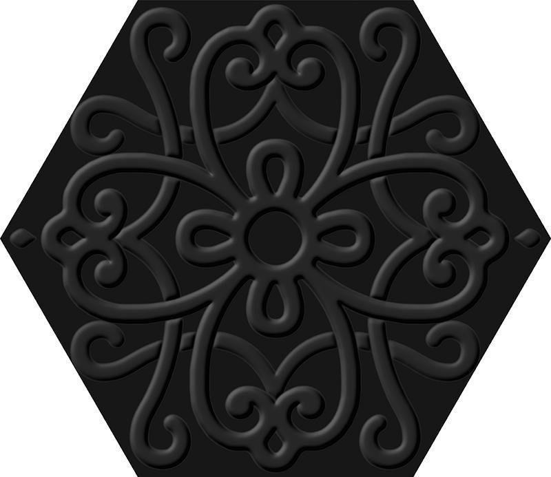 FLORA BLACK (23x27)
